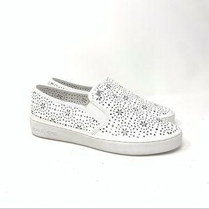 Michael Kors Kane Slip On Leather Shoes White 8